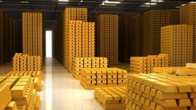 كمية الذهب في العالم